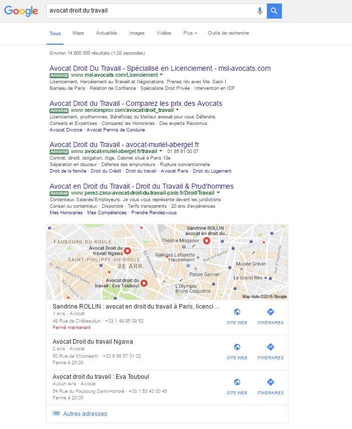 référencement google avocats