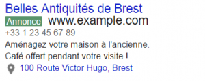 extension lieu adwords avocats